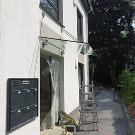 Glasvordächer, Glasbau Oberpleis