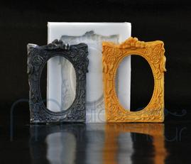 MouldManufaktur Silikonform Mould Rahmen Bilderrahmen Fondant