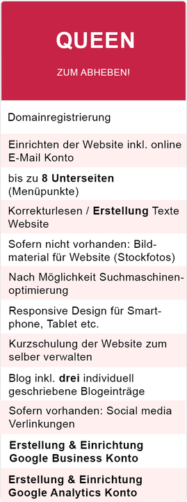 Webdesign Paket Queen