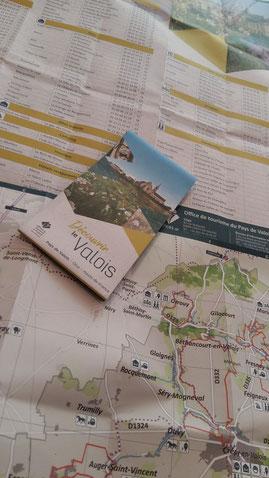 Carte touristique du Pays de Valois
