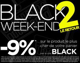 9% sur le produit de votre choix, jusqu'au 20/12, code : BLACK !