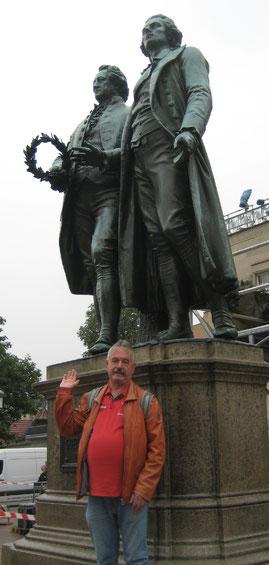 Drei Große: Michael Kühn, Friedrich von Schiller und Johann Wolfgang von Goethe