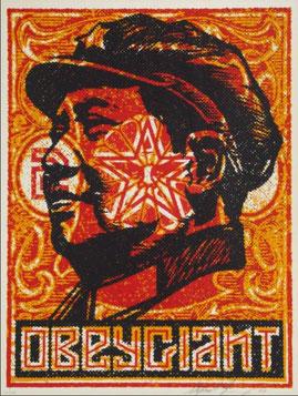 Shepard Fairey Mao Stamp 2000