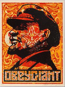 Shepard Fairey Lenin Stamp 2000