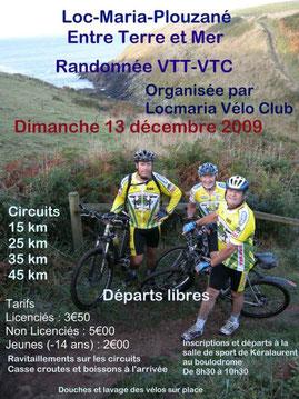 L'affiche de la rando VTT 2009