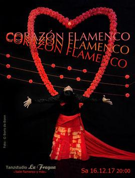 "Titelfoto zur Flamenco-Aufführung ""CORAZÓN FLAMENCO"" am 16.12.17 im Tanzstudio La Fragua in Bonn / Color-Foto by Boris de Bonn"
