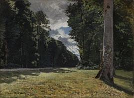 Claude Monet: Straße im Wald von Fontainebleau, 1865. Ordrupgaard, Kopenhagen. Copyright Foto: Anders Sune Berg/PR