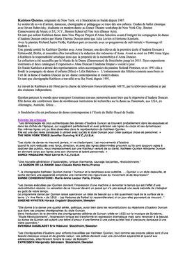 Kathleen Quinlan - traduction française