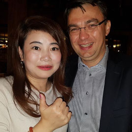 Jenny Zhao of Silk Way West Airlines and Denis Ilin, Deputy Director General for Int'l Business at Russian Post obviously enjoyed the Capian Cargo Summit  -  photo: hs