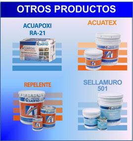 Impermeabilizantes, removedores, primarios anticorrosivos