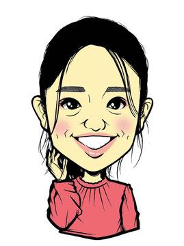 大島優子の似顔絵