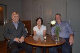 von links nach rechts: Eggert Korn ( 50 Jahre Mitgliedschaft ), Marianne Pahl und Hans von Altenbockum ( jeweils 25 Jahre Mitgliedschaft )