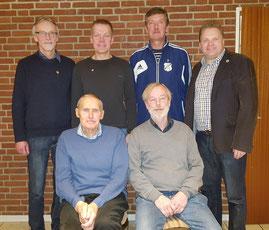 obere Reihe von links: Reiner Boikat, Roger Weichler, Peter Wiese und Heiko Wisser ( 1. Vorsitzender ), vordere Reihe von links: Günther Plikat und Werner Meyer-Simon