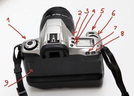Органы управления Canon EOS 300
