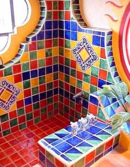 Liso r sticos artesanales talavera azulejo talavera tejas de barro losetas de barro - Azulejos artesanales ...