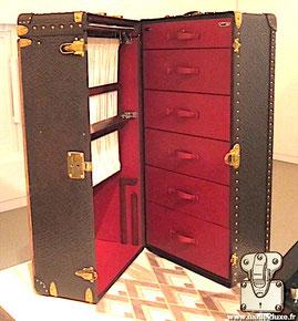 Louis Vuitton Elephant leather wardrobe trunk