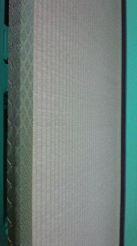 丁寧な畳の縫い目 斜め横から見た畳