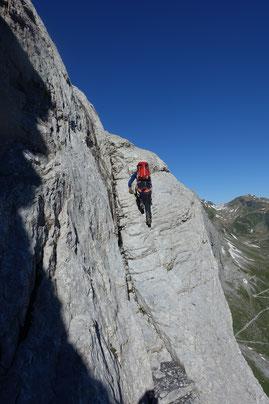 Gross Ruchen Nordwand, Bergtour, Uri, Klausenpass, Felsrampe