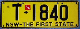 Australisches Kennzeichen New South Wales