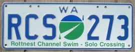 australisches Nummernschild aus West Australien