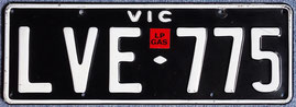 australisches Nummernschild