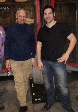 Frank Boon (belgischer Brauer von Lambic-Bieren) mit Dennis Fix