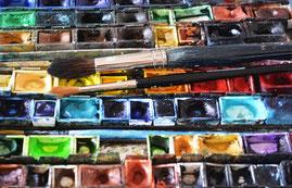 Aquarellfarben, Aquarellpinsel, Aquarellkurs, Aquarellmalen, Malen mit Aquarellfarben, Aquarellkurs, Malen lernen mit Aquarellfarben.