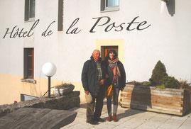 André Hardouin et Christine en pélerinage