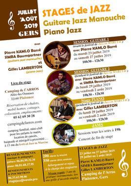 Stage Jazz Manouche Gers 2019