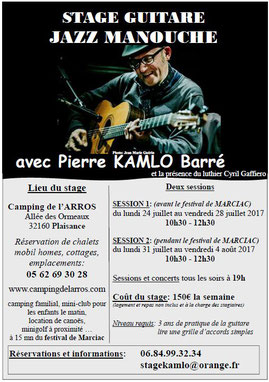 Camping gers arros - masterclass Jazz manouch Plaisance Gers
