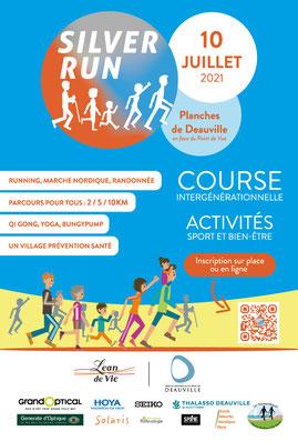 Affiche de la Silver Run, une course et marche intergénérationnelle pour promouvoir l'activité physique des seniors.