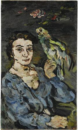 Oskar Kokoschka: Dame mit Papagei