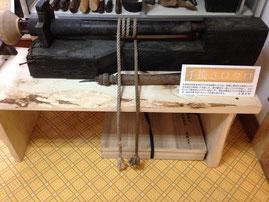 滋賀県・蛭谷「木地師資料館」の手挽きロクロ