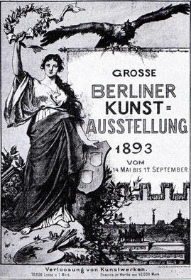 Plakat: Grosse Berliner Kunstausstellung 1893.