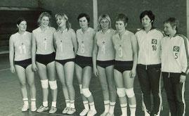 Die Damenmannschaft 1971