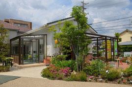 エバーグリーンガーデンではガーデンルームとオープンテラスを展示