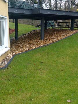 Terrassenunterbau bei sichtoffener Terrasse