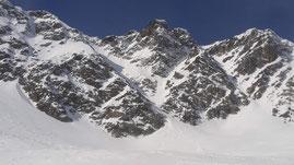 Veduta dal ghiacciaio di Rossboden