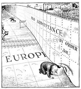 Dessin de L. Illingworth publié le 6 Mars 1946  (DR)