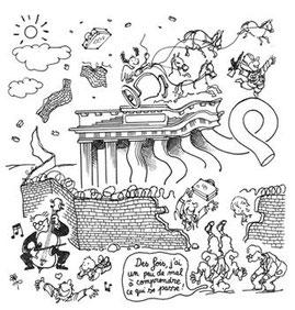 La chute d emur de Berlin, Plantu, 9 novembre 1989 (DR)
