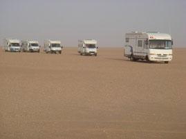 camping cars dans le desert mauritanien