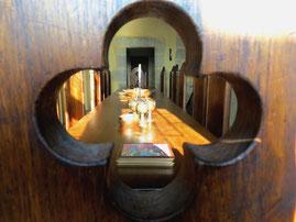 weekend en amoureux au chateau médiéval de Tennessus salle à manger
