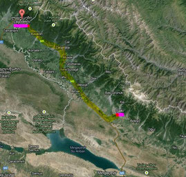 Azerbaijan 1. Tag: Lagodechi - Sbeki