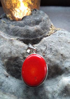 Tierelatinos Silver filled hanger -Rood koraal-  slechts €9,95
