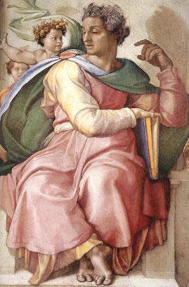 "Michelangelo, ""Cappella Sistina-Profeta Isaia"""