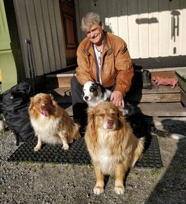 Franzl mit Neele, Sola und Thyra