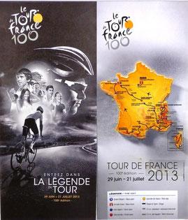 Carte Tour de France 2013