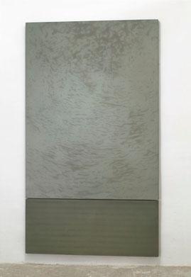 Alcyone 2001  Kunstharz, Steinmehl, Ölfarbe auf Leinwand  2 Teile 160 x 120 cm / 50 x 120 cm