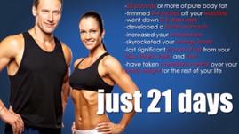 Un couple qui a perdu du poids et du ventre après 3 semaines de régime
