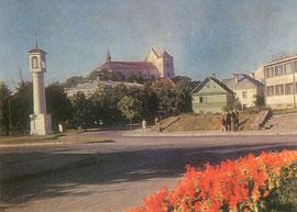 Trakų miesto centrinė aikštė. 1974m. Nuotr. V. Sparnaičio / Trakai town square. 1974. Photo. V. Sparnaitis. 1974